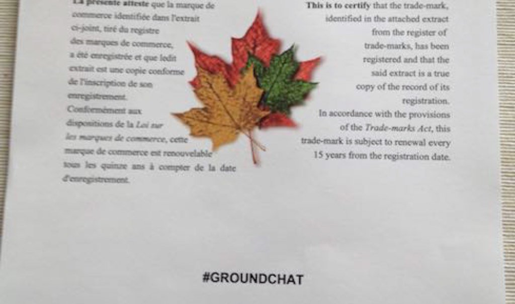 Trademark #groundchat